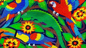 Colors Bird Lizard 3840x2160 Wallpaper