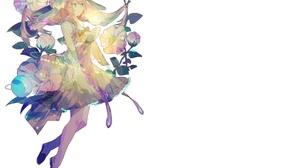 Long Hair Veil Flower Bow Clothing 3480x2480 wallpaper