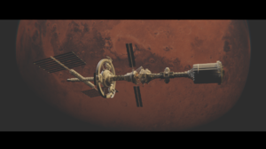Space Mars Spaceship Planet 3D Graphics CGi Digital 2560x1440 Wallpaper