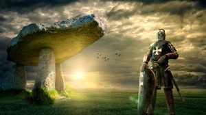 Boulder Knight Rock Shield 4200x2800 Wallpaper