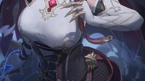 Anime Anime Girls Yohan1754 Artwork Genshin Impact Rosaria Genshin Impact Violet Hair Violet Eyes 1700x3196 Wallpaper