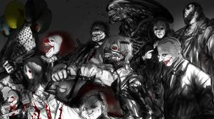 A Nightmare On Elm Street Alien Freddy Krueger Friday The 13th Horror Ken Kaneki Pennywise It Saw Mo 4000x1446 Wallpaper