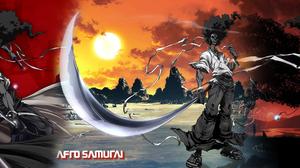 Anime Afro Samurai 3360x1050 wallpaper