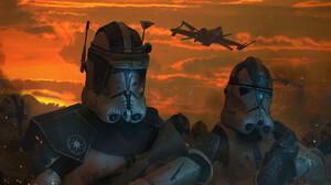 Arc 170 Starfighter Clone Trooper 2200x1080 Wallpaper