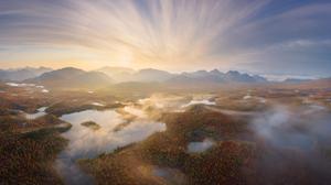 Daniel Kordan Landscape Sky Horizon Hills Water Trees Mist Reflection 1800x1200 Wallpaper