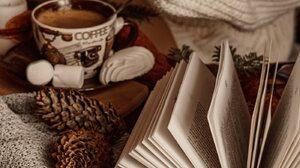 Coffee Books Pinecone 1400x2103 Wallpaper