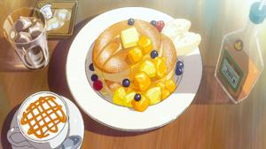 Blueberry Coffee Food Kimi No Na Wa Maple Syrup Pancake 2560x1600 Wallpaper