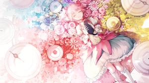 Anime Anime Girls Mahou Shoujo Madoka Magica Kaname Madoka Cats Shiro Inori 2150x2400 Wallpaper