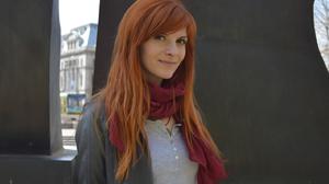 Alexandru Botez Women Redhead Long Hair Looking At Viewer Scarf Jacket Smiling Outdoors 1420x944 Wallpaper