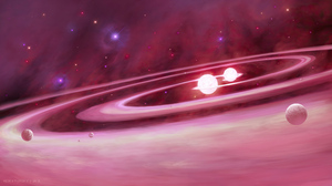Pink Planet Space Stars 3840x2154 Wallpaper