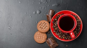 Chocolate Coffee Coffee Beans Cookie Cup Still Life 3872x2592 wallpaper