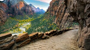 Angels Landing Canyon Landscape Rock Zion National Park 4880x3660 wallpaper
