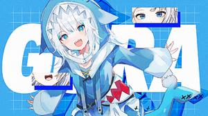 Gawr Gura Hololive Virtual Youtuber Anime Anime Girls Digital Art 1920x1080 Wallpaper