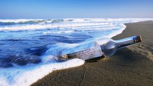 Beach Bottle Message 1920x1080 wallpaper