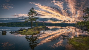 Cloud Lake Nature Norway Reflection 2048x1153 Wallpaper