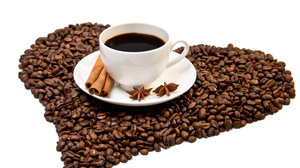 Cinnamon Coffee Cup Drink Heart Shaped 4358x2913 wallpaper