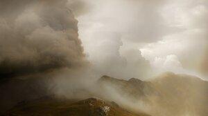 Clouds Mist Iceland Landscape Portrait Display Rocks 1638x2048 wallpaper
