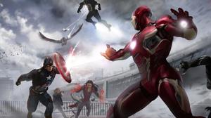 Black Panther Marvel Comics Black Widow Captain America Falcon Marvel Comics Hawkeye Iron Man Scarle 6870x2509 Wallpaper