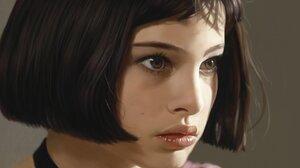 Artwork Women Natalie Portman Leon The Professional Short Hair Face 1920x1200 wallpaper