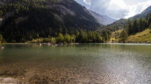 Mountain Pass Alps Nature Switzerland Les Diablerets 6000x4000 Wallpaper