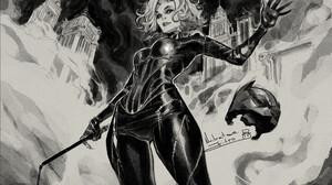 Drawing Comic Art Mask Fantasy Girl Catwoman Nabetse Zitro 1965x1311 Wallpaper