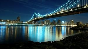 Man Made Manhattan Bridge 1920x1200 Wallpaper