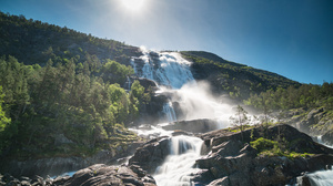 Nature Norway Waterfall 3976x2652 wallpaper
