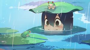 Frog Girl Tsuyu Asui 2143x1607 Wallpaper