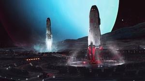 Futuristic Space 1920x1080 wallpaper