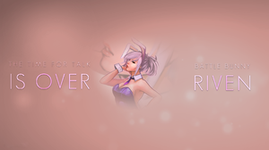 League Of Legends Riven Riven League Of Legends Simple Background Quote Bunny Girl Bunny Ears 1920x1080 Wallpaper
