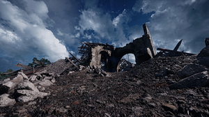 Church Destruction Cloud 2560x1440 Wallpaper