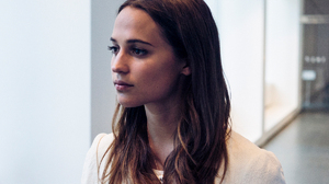 Alicia Vikander Women Actress Indoors Brunette Long Hair White Clothing Swedish 1200x1500 wallpaper