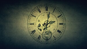 Clocks Clockworks Vintage Roman Numerals Hands Watch Time Gears Text Screw Gradient 1920x1200 Wallpaper