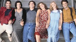 Chandler Bing Courteney Cox David Schwimmer Friends Tv Show Jennifer Aniston Joey Tribbiani Lisa Kud 3000x2399 Wallpaper