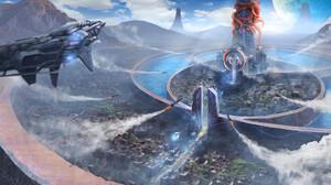 Futuristic Missile Spaceship 1920x1080 wallpaper