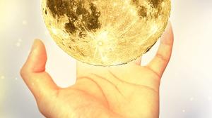 Moon Hand Gesture Light Bulb 3456x5184 Wallpaper