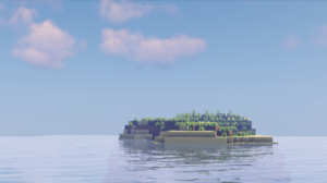 Minecraft Shaders Island 2560x1381 wallpaper