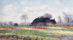 Artistic Field House Painting 1920x1409 Wallpaper