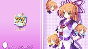 Sevens And Two Stars Meet Again Hoshiba Sora Anime Series Anime Girls Brunette Long Hair Ponytail Ba 1920x1200 wallpaper