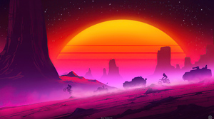 Post Apocalyptic Synthwave 3840x2160 Wallpaper