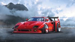 Ferrari F40 Ferrari Supercar Sport Car Red Car Car Vehicle 1974x1080 Wallpaper