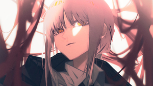 Chainsaw Man Makima Chainsaw Man Anime Anime Girls Face Tie Looking At Viewer 2150x1791 Wallpaper