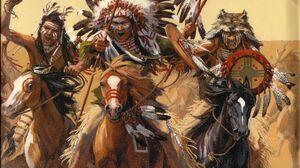 Native Americans Warrior 2333x1696 Wallpaper