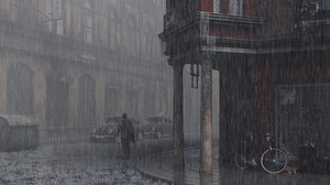 3D CGi City Street ArtStation Artwork Rain 2000x2857 Wallpaper