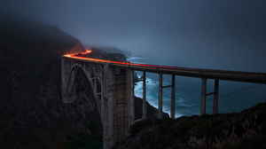 Bridge California Night Ocean Time Lapse 2048x1257 Wallpaper