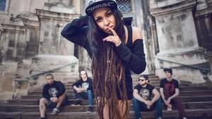 Jinjer Tatyana Shmayluk Women Men Dark Hair 1280x851 wallpaper