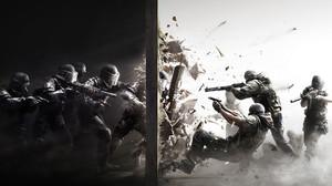 Police Gun Debris SWAT Rainbow Six Siege Video Games Weapon Rainbow Six Splitting Battle Soldier Dig 1920x1080 Wallpaper