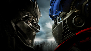 Wide Screen Transformers Optimus Prime Movies Robots Megatron 2560x1024 Wallpaper