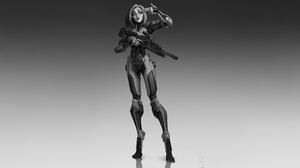 Woman Warrior Girl Weapon 5000x2860 Wallpaper
