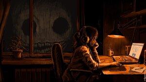 Creepy Creature Giant Skeleton Night Boris Groh 2000x1007 Wallpaper